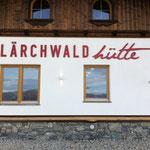 Beschriftung Skihütte Lärchwald, Skigebiet Penken, Mayrhofen