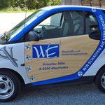 Smarte Autobeschriftung für WE Baustoffe
