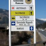 Ortsbeschilderung und Leitsystem Gemeinde Ramsau im Zillertal