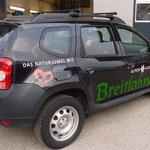 Fahrzeugbeschriftung mit Herz! - Alpengasthof Breitlahner