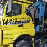 LKW-Beklebung Abschleppdienst Wittmann