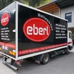 LKW-Vollbeklebung für Eberl Wellness, Mayrhofen