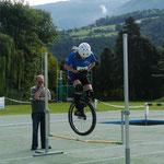 WM 2012 in Brixen: Lea Schulte beim Hochsprung (48 cm)
