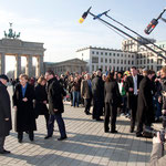 Mikhail Gorbachev, Chancellor Dr. Angela Merkel, Kai Diekmann (Managing Editor BILD Zeitung)