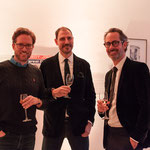 F.l.t.r.: Luc Meriochaud, Jeremy Fowler (Cultural Affairs U.S. Embassy), Benjamin Jäger (Member of the Excecutive Board CAMERA WORK AG)