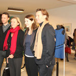 Jeremiah Tesolin (Marimekko), Botschafterin von Finnland Päivi Luostarinen, Alina Heinze (Leiterin des Museums THE KENNEDYS), Mark Fiedler (Café PALERMO)