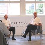 Botschafter a. D. Dr. Klaus Scharioth und Werner Sonner (Moderation)