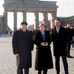 Michail Gorbatschow, Bundeskanzlerin Dr. Angela Merkel, Kai Diekmann (Chefredakteur BILD Zeitung)