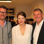Kai Diekmann (Herausgeber Bild), Alina Heinze (Museumsleitung), Daniel Biskup (Fotograf)