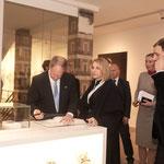 F.l.t.r.:  U.S. Ambassador John B. Emerson with Kimberly Emerson, Jeremy Fowler (Cultural Affairs U.S. Embassy)