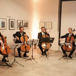 Cello quartet of the Berlin Philharmonic Orchestra, fl.t.r. David Riniker, Knut Weber, Martin Menking, and Stephan Koncz