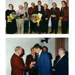 Bild unten: Bgm. Mag. Walter Böck gratuliert Erich Macho
