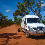 On the Road to Cape York - tyre pressure must be lowered