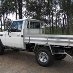 restaured Troopy with rock slides by Southern Spirit Campervans