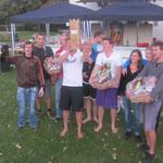 Die Sieger: Tent it up 1 (3.Platz), De Giuseppe & sini Kubbcrew (1.), Checkeletti (2.)