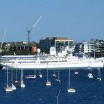 MS Doulos im Hafen von Geelong..