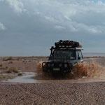 Wüste Gobi nach heftigem Regen