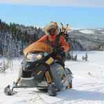 Mit dem Schneemobil unterwegs