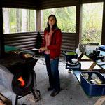 Kochgelegenheit auf dem Campingplatz