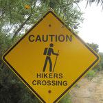 ...an dieser stelle überqueren die seltene Gattung der HIker die Strasse um zu ihren Brutstätten zu kommen....