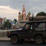 ...Geschafft, großes Etappenziel war Moskau