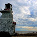 Leuchtturm in der islandichen Siedlung Hecla...