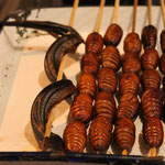 Delikatessen auf den Nachtmärtkten von Beijing