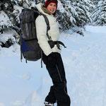 Schneeschuhlaufen ist Schweisstreibend