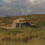 Camp in den Dünen bei Shark Bay...