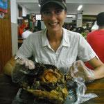 Ente in Seeschlamm gebacken, Delikatesse in Hangzhou