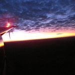 Sonnenuntergang aus dem Heli...