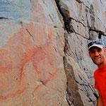 Uralte Malereien der Ojibwe Indianer
