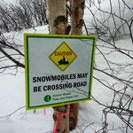 Regeln auch für Schneemobile