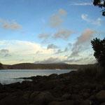 Blick aus unserer Hütte in der Mingon Bay