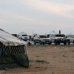 ...4x4 Treffen in einem Ger-Camp in der Nähe von Erenhot
