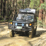 Unterwegs im Wombat State Forest