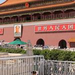 ebenfall am Tian´anmen. Von hier aus wurde 1949 die Volkrepublik China gegründet und auch Schauplatz der Studentendemonstrationen von 1989