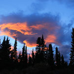 Sonnenuntergang über Fishlake