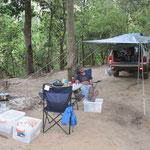 Erstes Camp im Lakefield Park