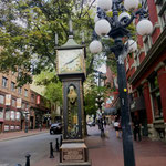Touristenantraktion.. die Dampfuhr in Gastown..