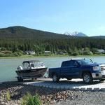 Spontaner Angelausflug auf Lake Bennett