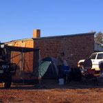 Bushcamp an einer Verlassenen Bahnstation zusammen mit Olivia und Olivié