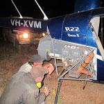 black hawk down.. Ventil beim Heli festgefressen.. fast abgeschmiert.. aber kein Problem.. wir reparieren auch Nachts