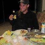 Abendessen/Trinken bei John