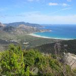 Die Südlichste Spitze Australien ist immerhin zu erahnen..