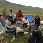 Einladung von Mongolischen Campnachbarn