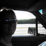 Auf der Fähre nach Daintree, auf dem Weg in den Regenwald