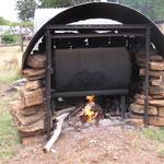 ..die einzige Möglichkeit für warmes Wasser im Outback..
