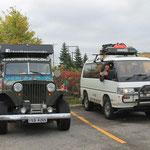 Wir sind nicht die einzigen Reisenden im Herbstlichen Ostkanada