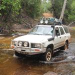 14 Flüsse muss man Queren..hier der Cokatoo-Creek